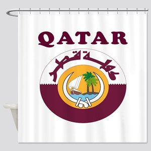 Qatar Coat Of Arms Designs Shower Curtain