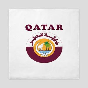 Qatar Coat Of Arms Designs Queen Duvet