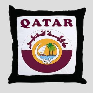 Qatar Coat Of Arms Designs Throw Pillow