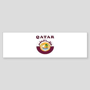 Qatar Coat Of Arms Designs Sticker (Bumper)