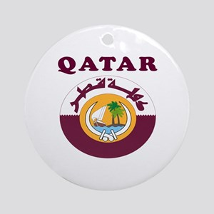 Qatar Coat Of Arms Designs Ornament (Round)