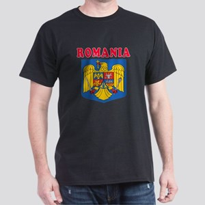 Romania Coat Of Arms Designs Dark T-Shirt
