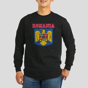Romania Coat Of Arms Designs Long Sleeve Dark T-Sh