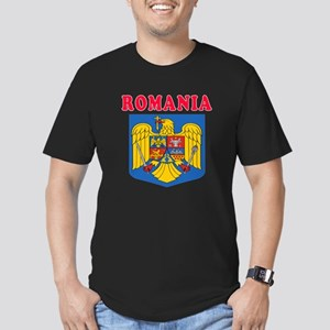 Romania Coat Of Arms Designs Men's Fitted T-Shirt