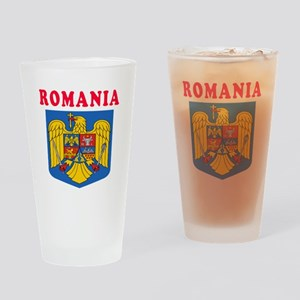 Romania Coat Of Arms Designs Drinking Glass