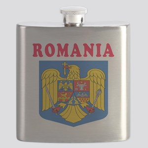 Romania Coat Of Arms Designs Flask