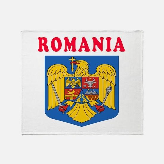 Romania Coat Of Arms Designs Throw Blanket