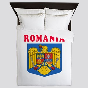 Romania Coat Of Arms Designs Queen Duvet