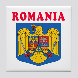 Romania Coat Of Arms Designs Tile Coaster