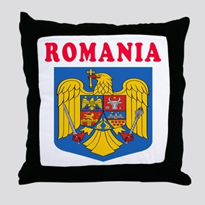 Romania Coat Of Arms Designs Throw Pillow