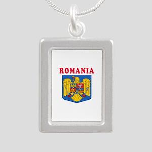 Romania Coat Of Arms Designs Silver Portrait Neckl