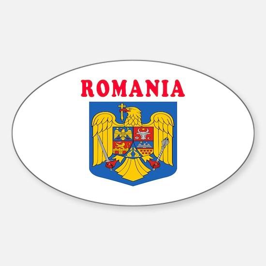 Romania Coat Of Arms Designs Sticker (Oval)