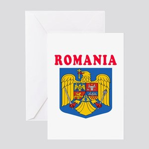 Romania Coat Of Arms Designs Greeting Card