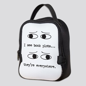 I See Book Plots - Neoprene Lunch Bag