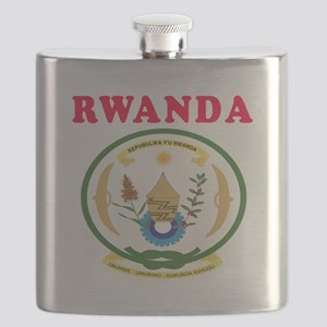 Rwanda Coat Of Arms Designs Flask