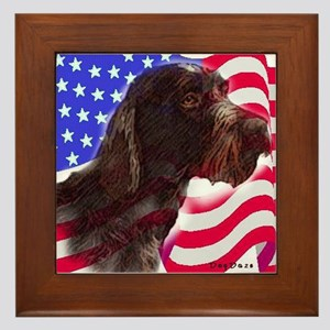 gwp with flag Framed Tile