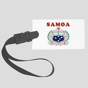 Samoa Coat Of Arms Designs Large Luggage Tag
