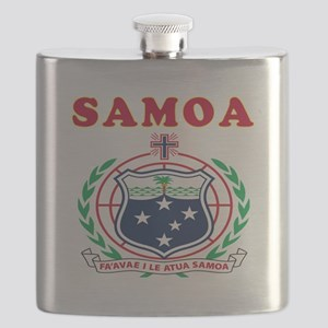 Samoa Coat Of Arms Designs Flask