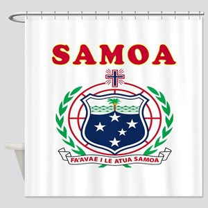 Samoa Coat Of Arms Designs Shower Curtain