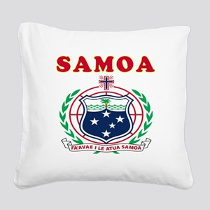 Samoa Coat Of Arms Designs Square Canvas Pillow