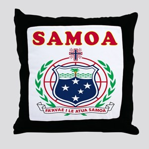 Samoa Coat Of Arms Designs Throw Pillow