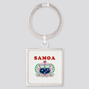 Samoa Coat Of Arms Designs Square Keychain