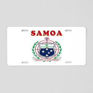 Samoa Coat Of Arms Designs Aluminum License Plate