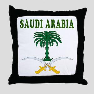Saudi Arabia Coat Of Arms Designs Throw Pillow