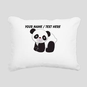 Custom Cute Panda Rectangular Canvas Pillow
