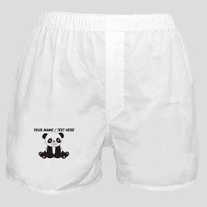 Custom Cute Panda Boxer Shorts