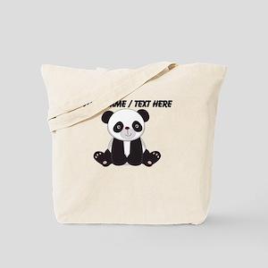 Custom Cute Panda Tote Bag