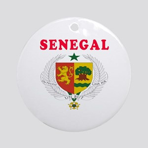 Senegal Coat Of Arms Designs Ornament (Round)