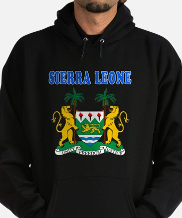 Sierra Leone Coat Of Arms Designs Hoodie (dark)