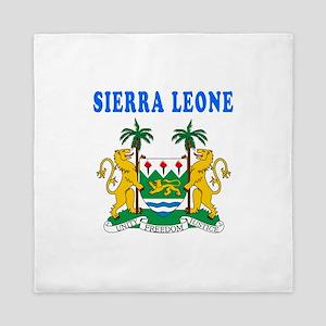 Sierra Leone Coat Of Arms Designs Queen Duvet