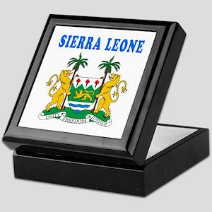 Sierra Leone Coat Of Arms Designs Keepsake Box