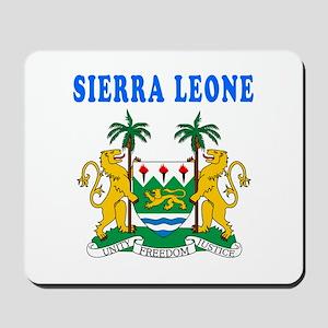 Sierra Leone Coat Of Arms Designs Mousepad