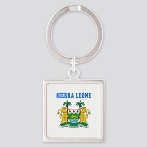 Sierra Leone Coat Of Arms Designs Square Keychain