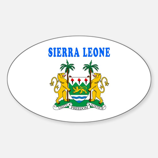 Sierra Leone Coat Of Arms Designs Sticker (Oval)