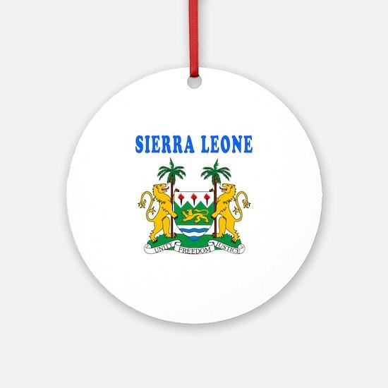 Sierra Leone Coat Of Arms Designs Ornament (Round)
