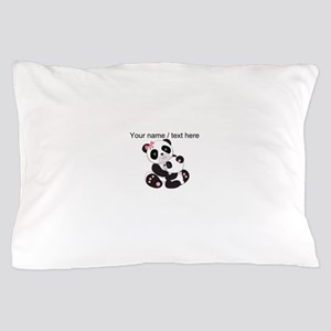 Custom Panda Baby And Mother Pillow Case