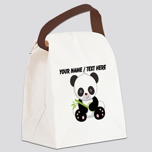 Custom Panda With Bamboo Canvas Lunch Bag