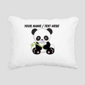 Custom Panda With Bamboo Rectangular Canvas Pillow