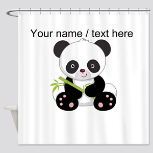 Custom Panda With Bamboo Shower Curtain