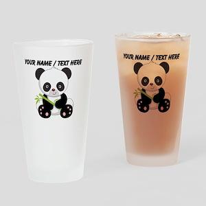 Custom Panda With Bamboo Drinking Glass