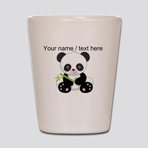Custom Panda With Bamboo Shot Glass