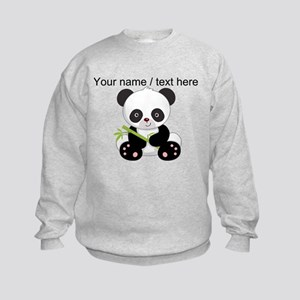 Custom Panda With Bamboo Sweatshirt