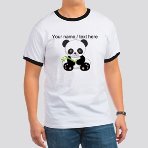 Custom Panda With Bamboo T-Shirt