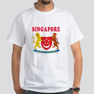 Singapore Coat Of Arms Designs White T-Shirt