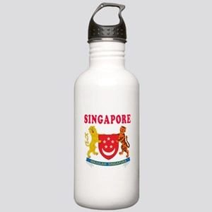 Singapore Coat Of Arms Designs Stainless Water Bot