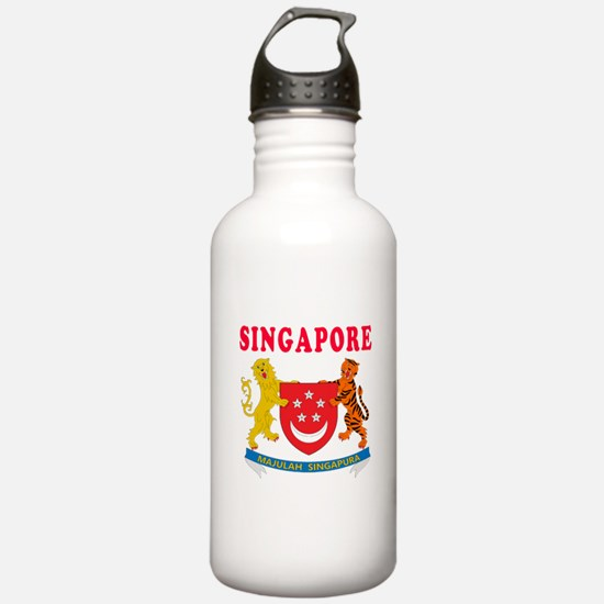 Singapore Coat Of Arms Designs Water Bottle